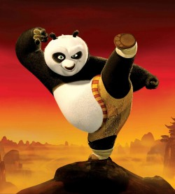 image of kungu fu panda in a kicking position illustrating how the Google Panda algorythm change delivered a kick to the groin to website's that didn't offer quality content